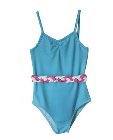 Brandy Button Braided Waist One Piece Swimsuit