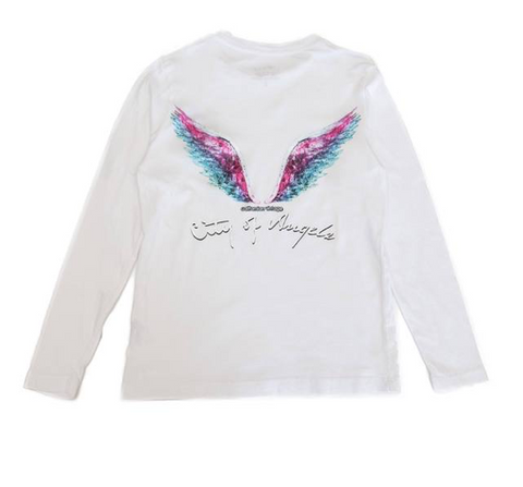 Californian Vintage Angel Wings Long Sleeve Tshirt
