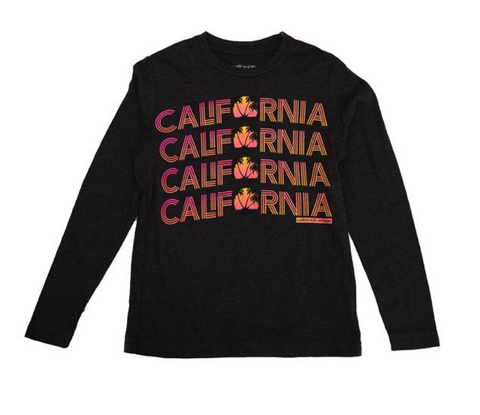 Californian Vintage California Sunrise Long Sleeve Tshirt