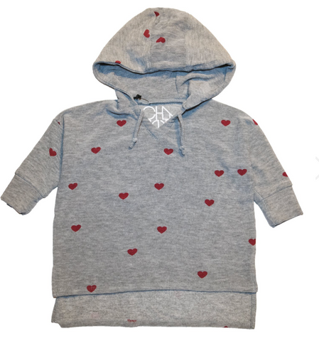 Chaser - Heart Soft & Cozy ¾ Sleeve Hoodie
