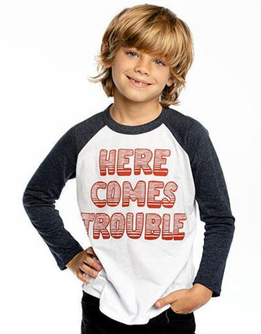 Chaser Here Comes Trouble Long Sleeve Tshirt