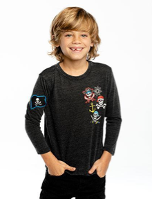 Chaser Pirates Patches Long Sleeve Tshirt
