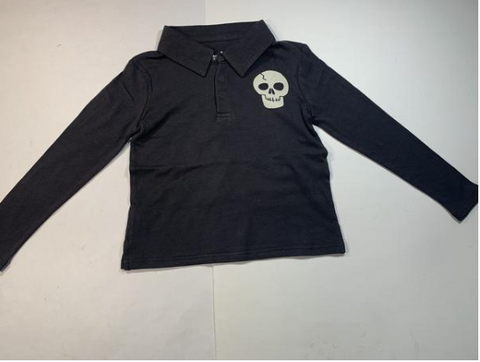 Chaser Skull Polo Long Sleeve Tshirt