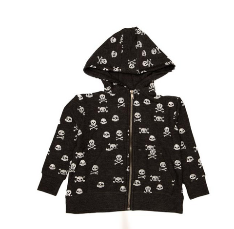 Chaser Skulls Soft & Cozy Zip Up Hoodie