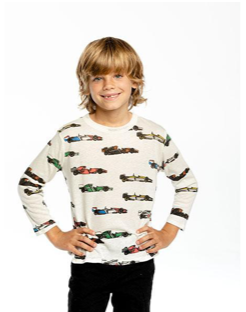 Chaser Vintage Race Cars Long Sleeve Tshirt