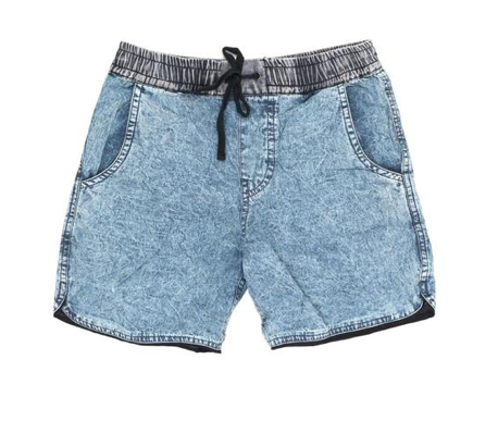 Children of The Tribe - Chambray Acid Wash Denim Shorts