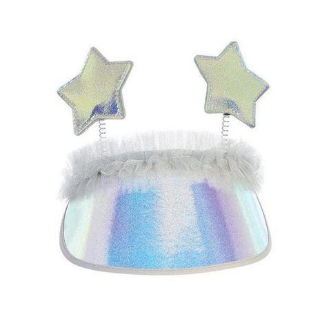 Dear Ellie Metallic Star Visor in Blue
