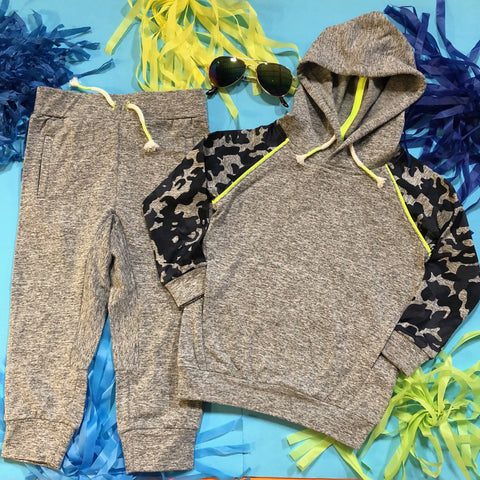 Egg By Susan Lazar - Nolan Camo Hoodie and Arthur Basic Sweatpants