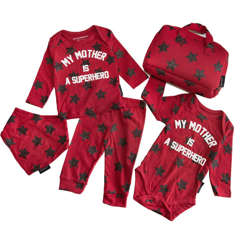 Eleven Paris Kids My Mother is a Superhero Baby Set