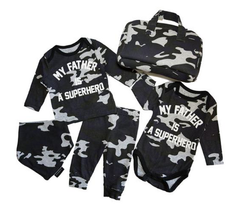 Elevenparis My Father Is A Superhero Baby Set