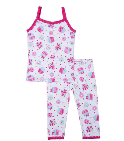 Esme - Cupcake And Donuts Tank Plus Leggings PJs