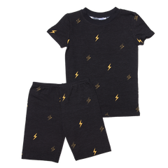 esme lightening short sleeve boxer shorts pj set