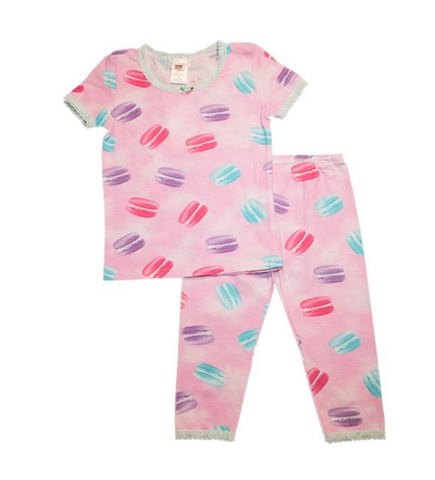 Esme Macaroon Short Sleeve Top and Leggings PJs