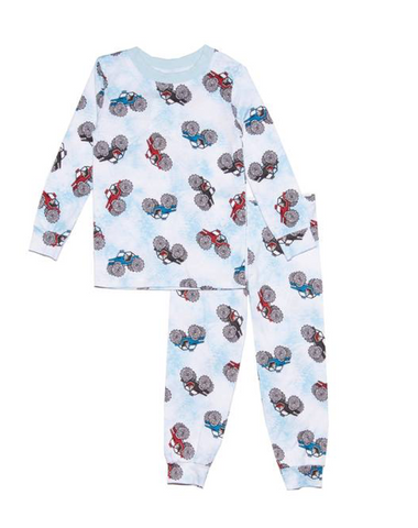 Esme Monster Jeep Long Sleeve PJ Set