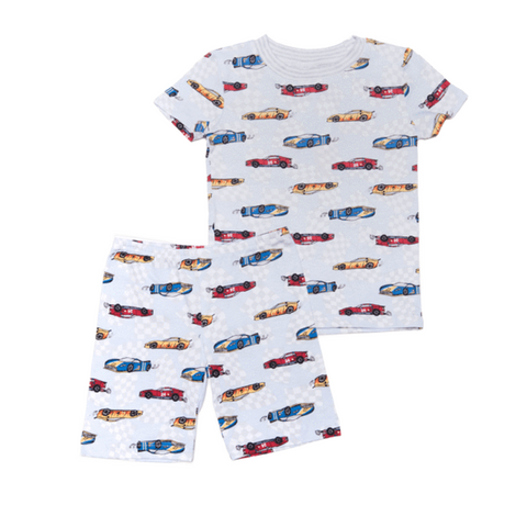 Esme Race Car Short Sleeve/Boxer Shorts PJ Set
