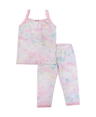 Esme Shimmery Cloud Tank Top and Leggings PJs Set