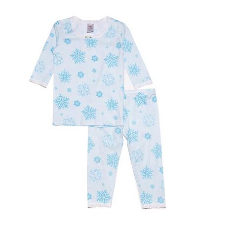 Esme Shimmery Snowflake Frozen Long Sleeve PJ Set
