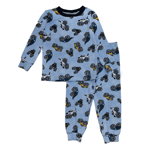 Esme - Trucks Long Sleeve Pajamas