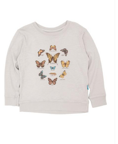 Feather 4 Arrow Butterfly Long Sleeve Tshirt