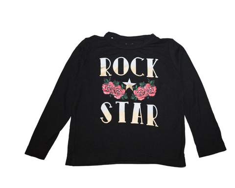 Flowers By Zoe - Rock Star Cold Shoulder Long Sleeve Top