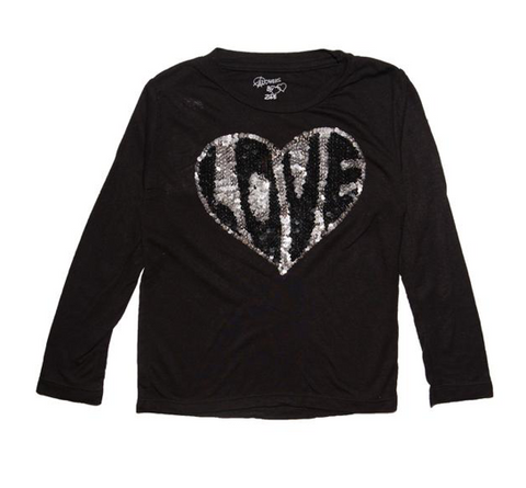 Flowers by Zoe Sequin Love Heart Long Sleeve Top