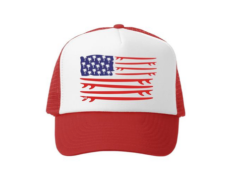 Grom Squad American Flag Boards Trucker Hat