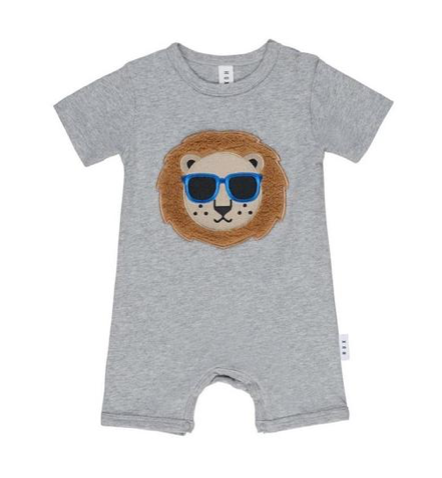 Huxbaby Cool Lion Fuzzy Romper