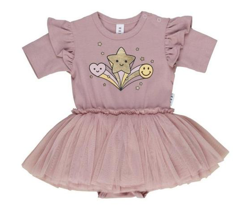 Huxbaby Star Power Tutu Onesie Dress