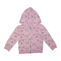 Ice Cream Castles - Light Pink Zip Up Unicorn Hoodie