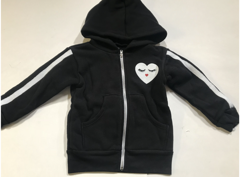 Lauren Moshi - Glam Heart Zip Up Hoodie