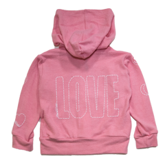 Lauren Moshi Love Stitch Embroidered Hoodie