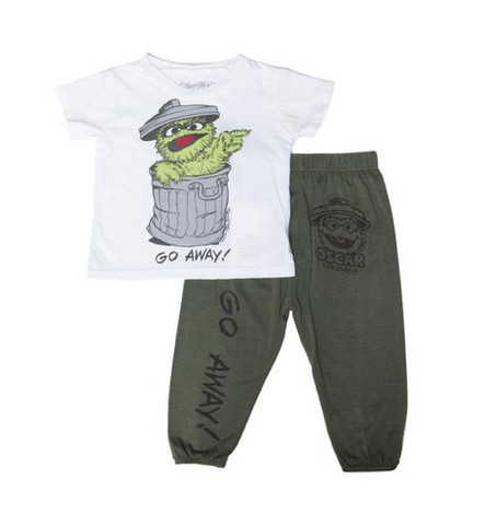 Lauren Moshi -  Oscar The Grounch Tshirt And Sweatpants Set