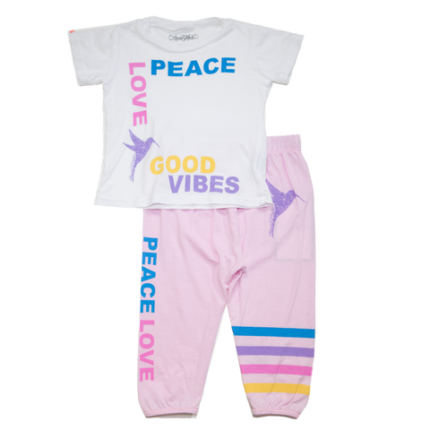 Lauren Moshi - Peace Love Tshirt and Sweatpants Set
