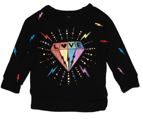 Lauren Moshi Rainbow Diamond Sweatshirt