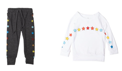 Lauren Moshi Rainbow Stars Sweatpants and Sweatshirt