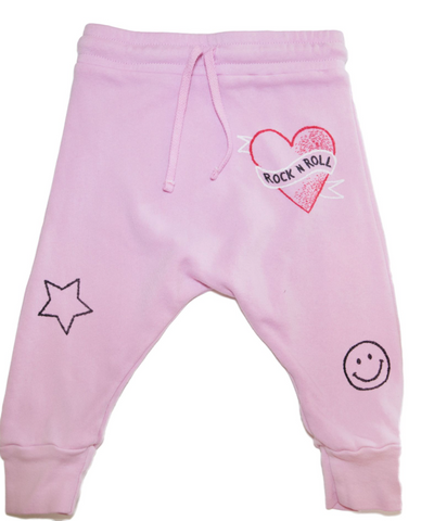 Lauren Moshi - Rock N' Roll Drop Crotch Sweatpants