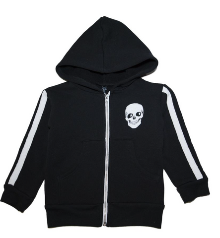 Lauren Moshi -  Skulls Vintage Car Zip Up Hoodie