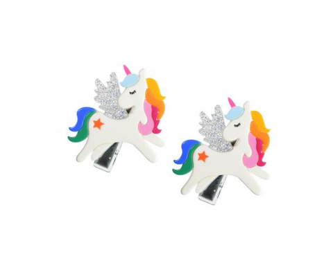 Lilies & Roses Unicorn Clip Set of Two