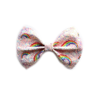 Little Kate Designs – Lucky Rainbow Glitter Bow Clip