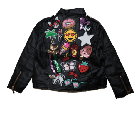Lola and The Boys - Patch Vegan Leather Biker Jacket