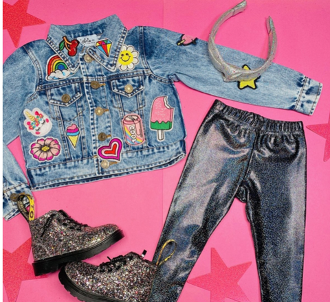 Lola & the Boys All About The Patches Denim Jacket