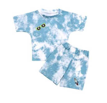 Lola & the Boys Tie Dye Patch Tshirt and Shorts Set