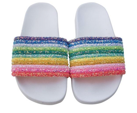 Lola and The Boys Glitter Rainbow Slides