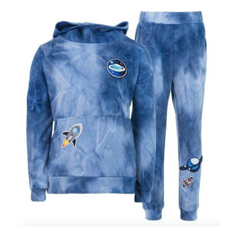 Lola and The Boys Tie Dye Patches Hoodies and Sweatpants Set
