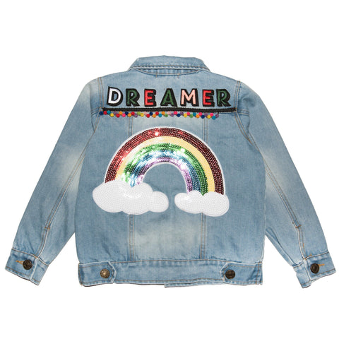 Lola and the Boys - Dreamer Sequin Denim Jacket