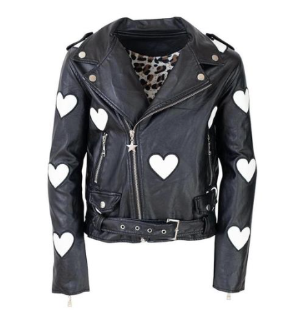 Lola and the Boys I Heart You Leather Vegan Jacket