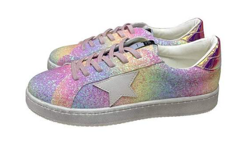 Lola and the Boys Ombre Glitter Star Sneakers