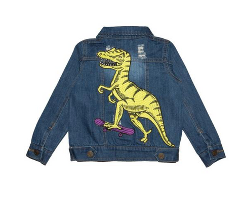 Lola and the Boys Rad Dino Denim Jacket