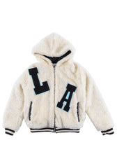 Loud apparel - fuzzy LA zip up hoodie