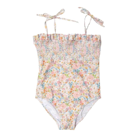 Marlo Naples Floral Smocked One Piece Swimsuit